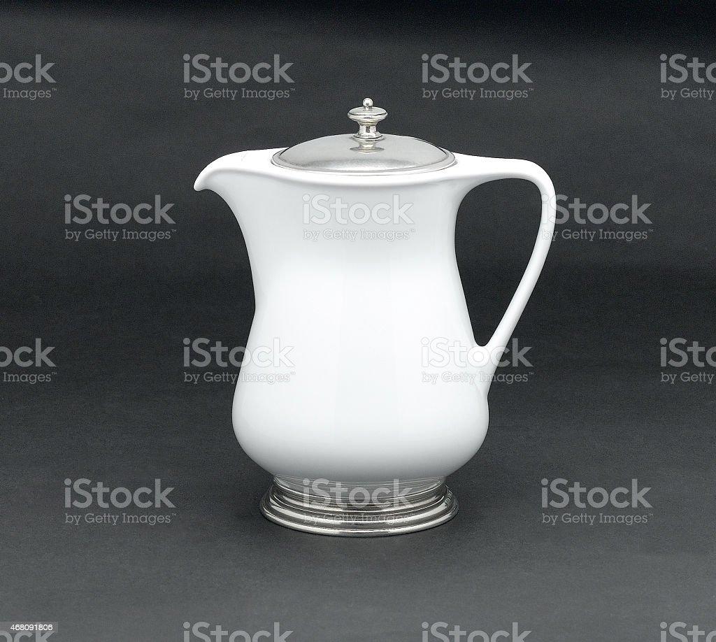 porcelain pitcher stock photo