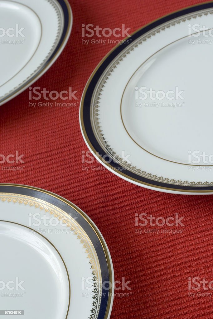porcelain plates royalty-free stock photo
