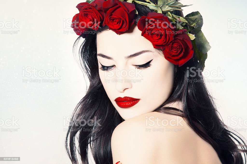 porcelain rose stock photo