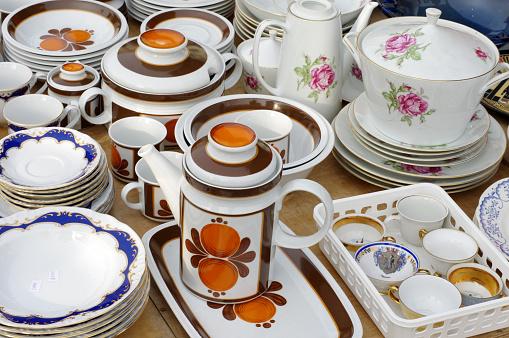 porcelain tableware retro