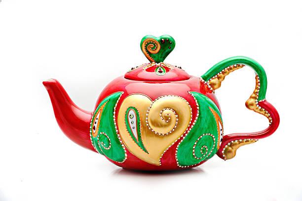 Porzellan-Teekanne bemalten unter soizick mit traditionellem Muster – Foto