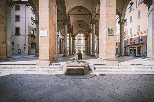 Porcellino Market in Florence during Covid-19 lockdown