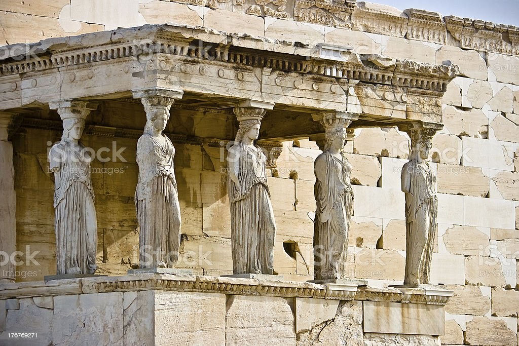Porch of the Maidens royalty-free stock photo