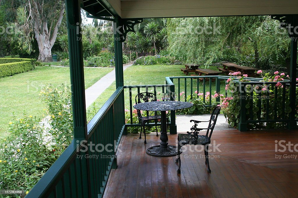 Porch Scene royalty-free stock photo