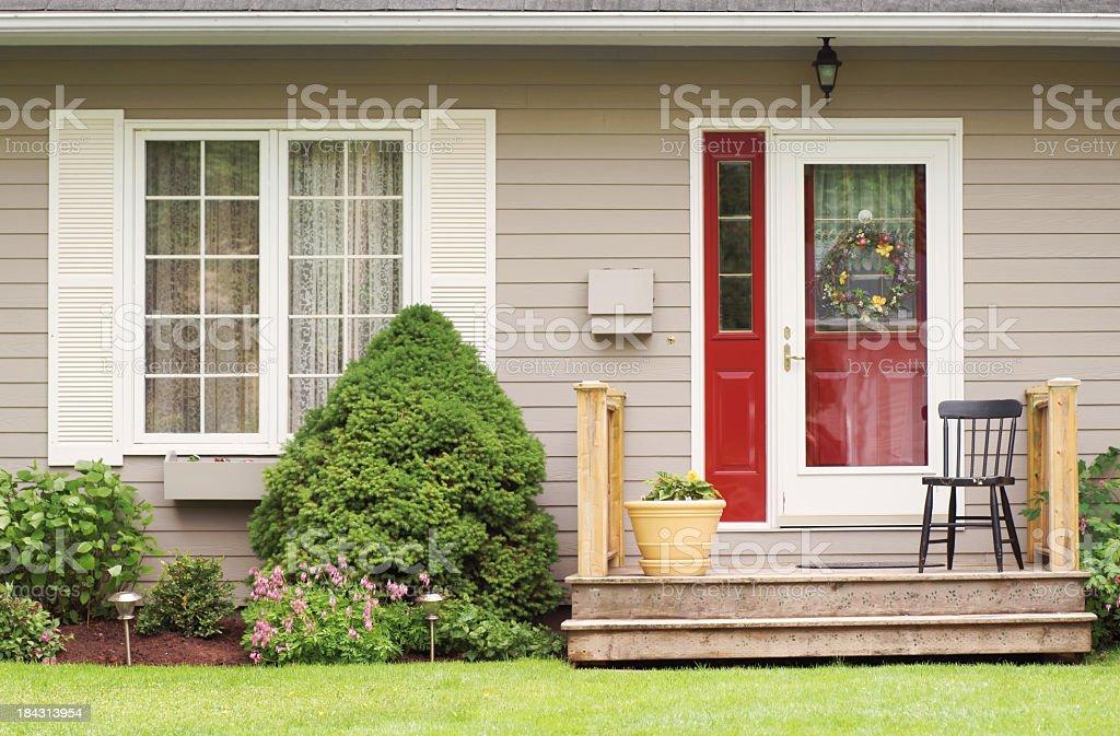 Porch seat. royalty-free stock photo
