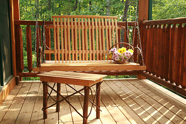 Porch Swing stock photo