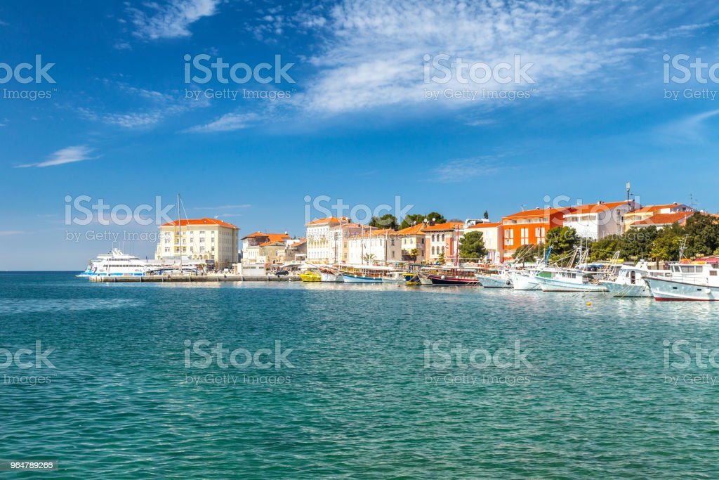 Porec town and harbor on Adriatic sea in Croatia. royalty-free stock photo