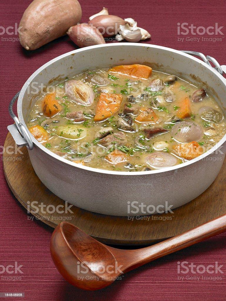 Pork and Sweet Potato Stew royalty-free stock photo