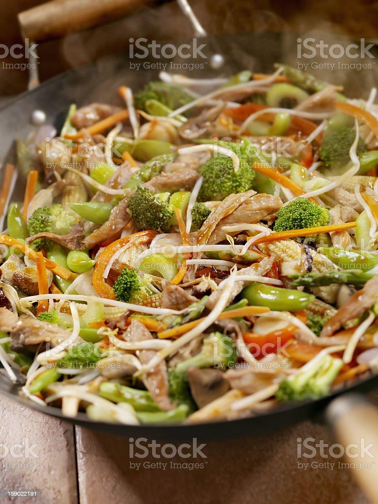 Pork and Vegetable Stir Fry royalty-free stock photo