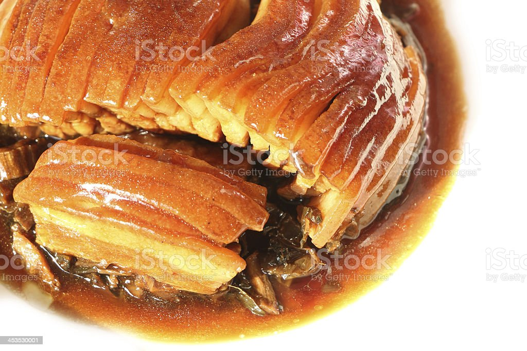 pork braised in brown sauce, chinese food stock photo