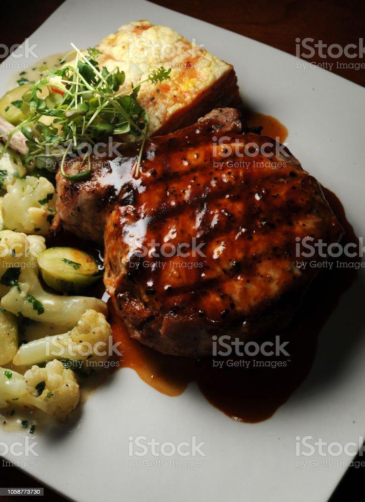 Pork Chop Begins stock photo