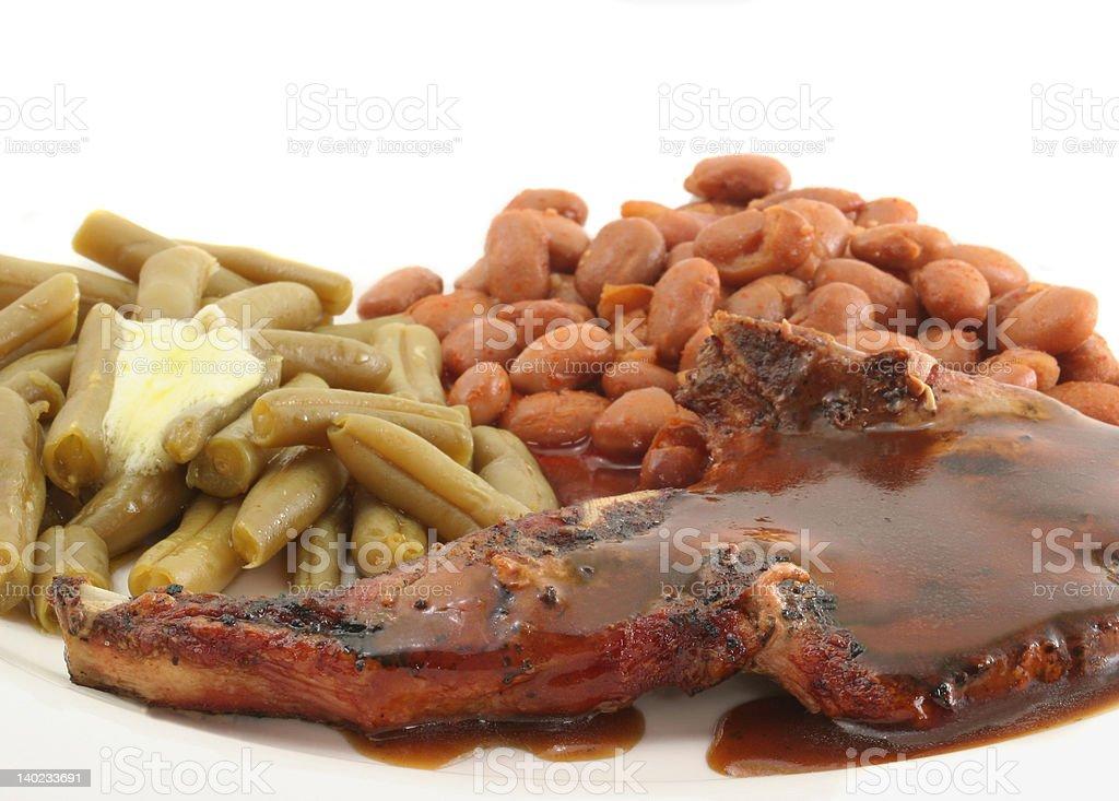 Pork Chop with Gravy royalty-free stock photo