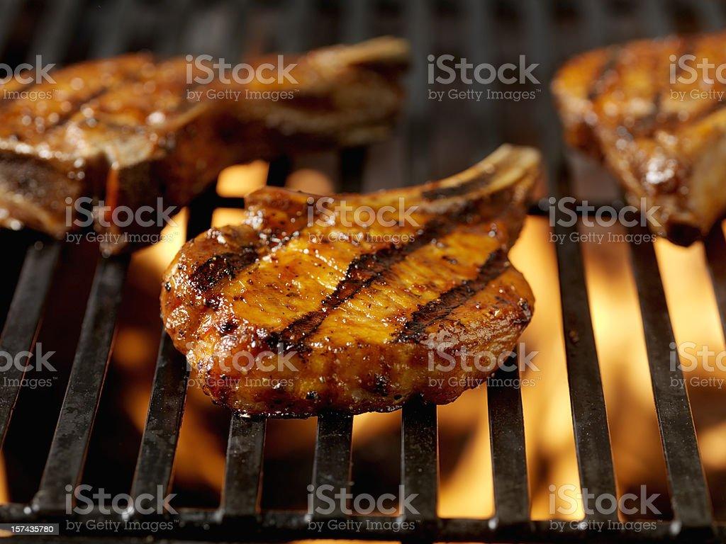 BBQ Pork Chops 1 royalty-free stock photo