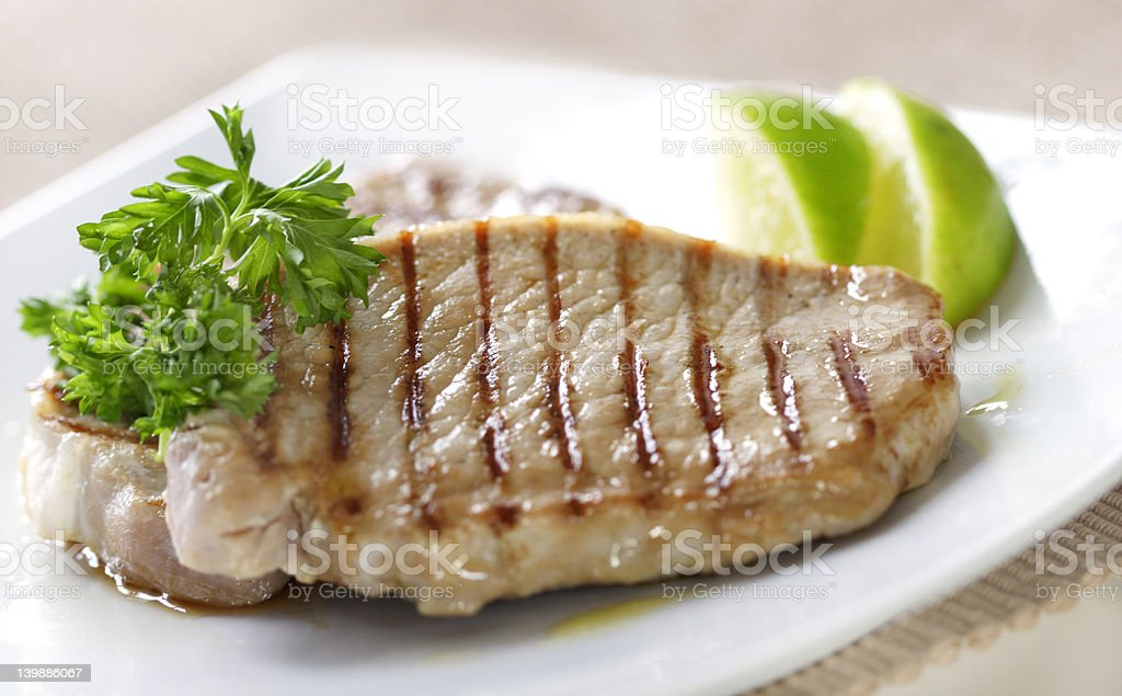 pork chops royalty-free stock photo