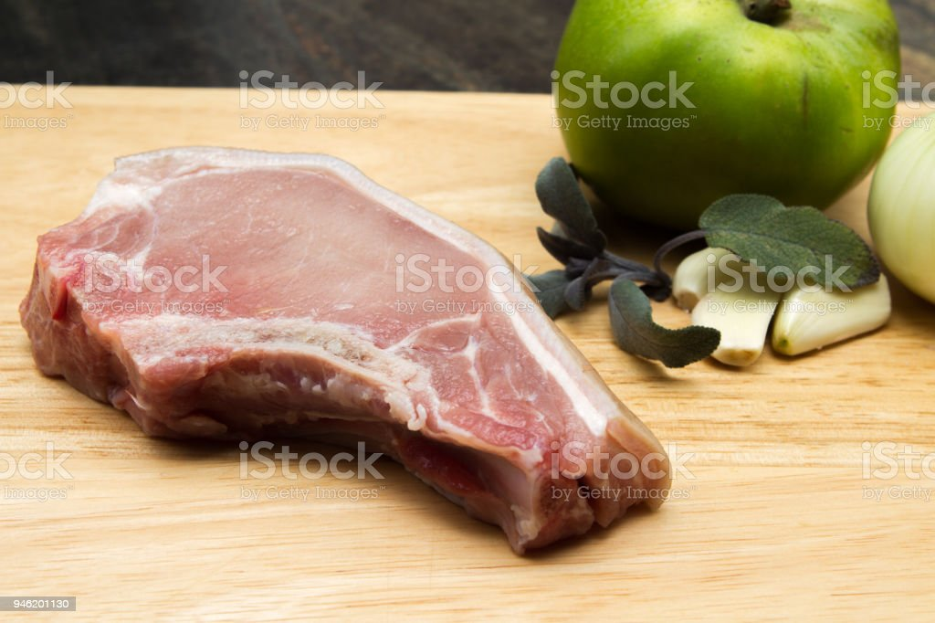 Pork chops stock photo