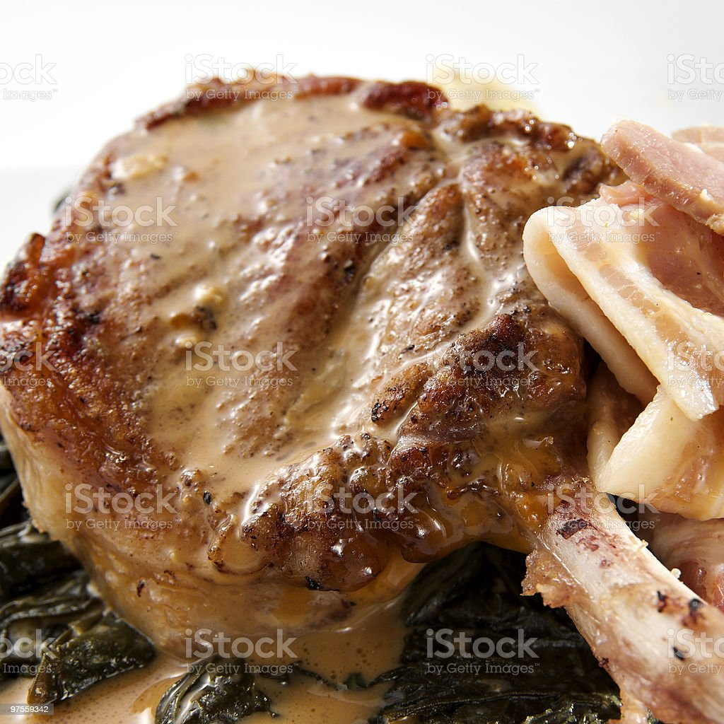 Pork Cutlet Normandy Style royalty-free stock photo