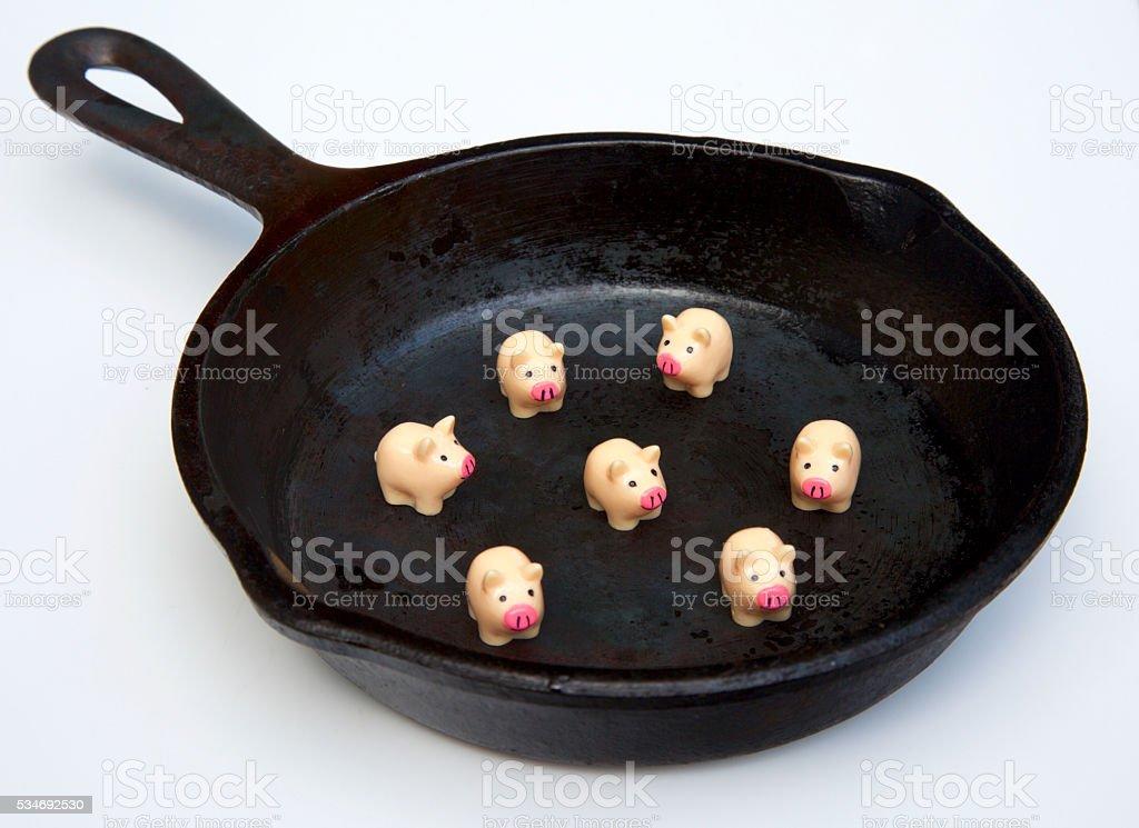 pork for dinner stock photo