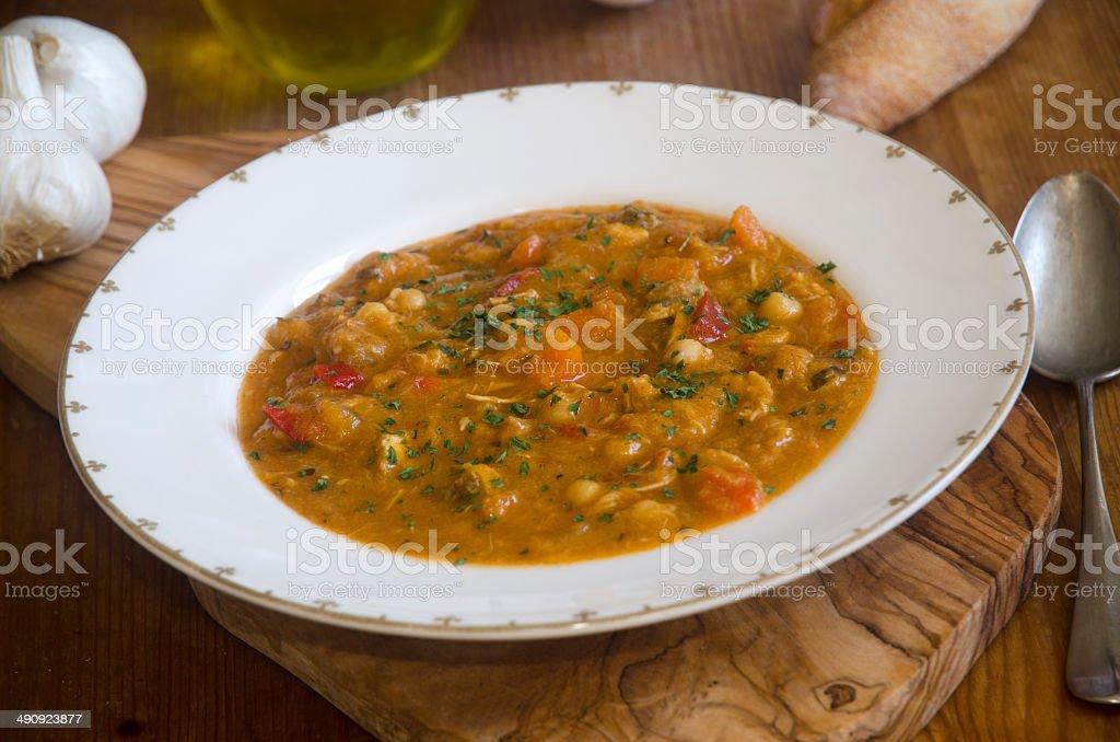 Pork goulash soup stock photo