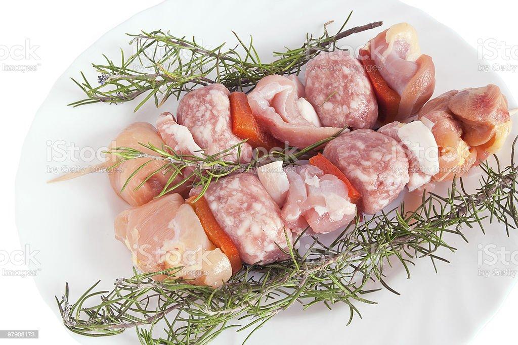 pork kebab with rosemary royalty-free stock photo