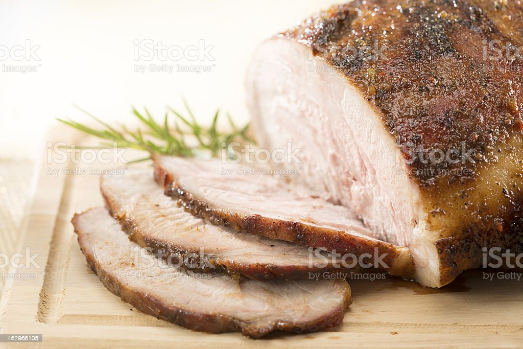 Pork loin stock photo