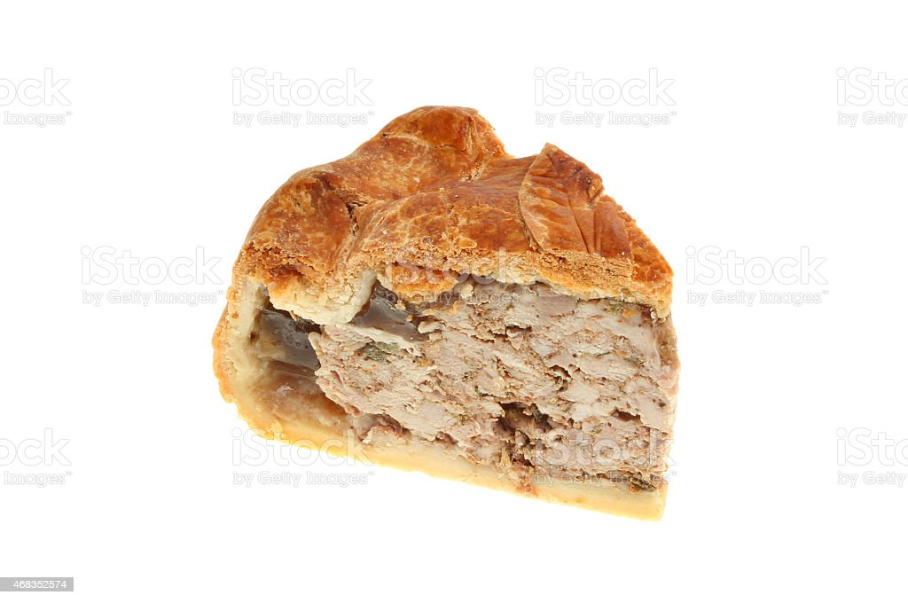 Pork pie slice royalty-free stock photo