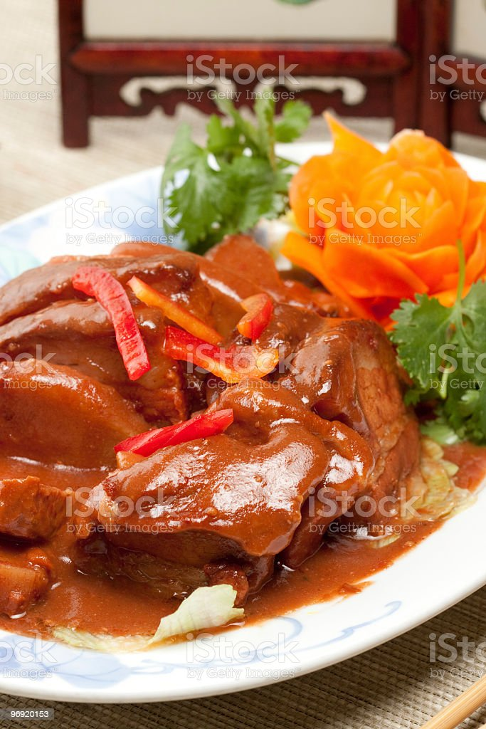 pork ragout royalty-free stock photo