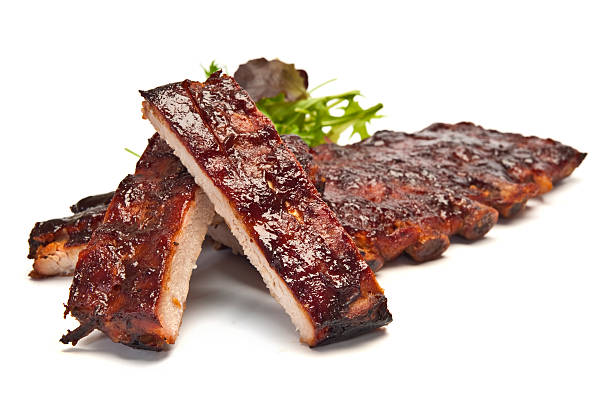 Pork Ribs Barbecued Pork Ribs pork stock pictures, royalty-free photos & images