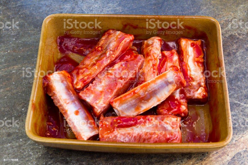 Pork ribs stock photo
