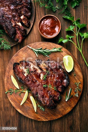 istock Pork ribs, top view 520004504