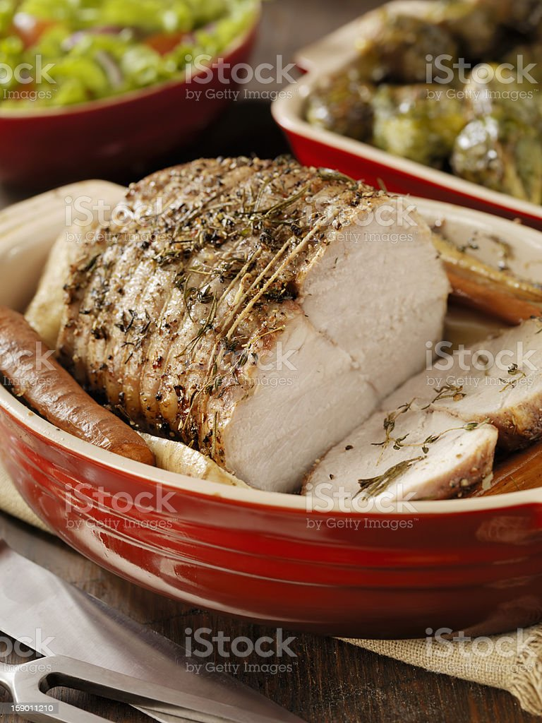 Pork Roast Dinner royalty-free stock photo