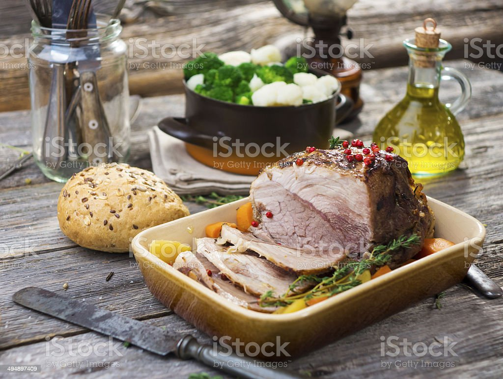 Pork Roast stock photo