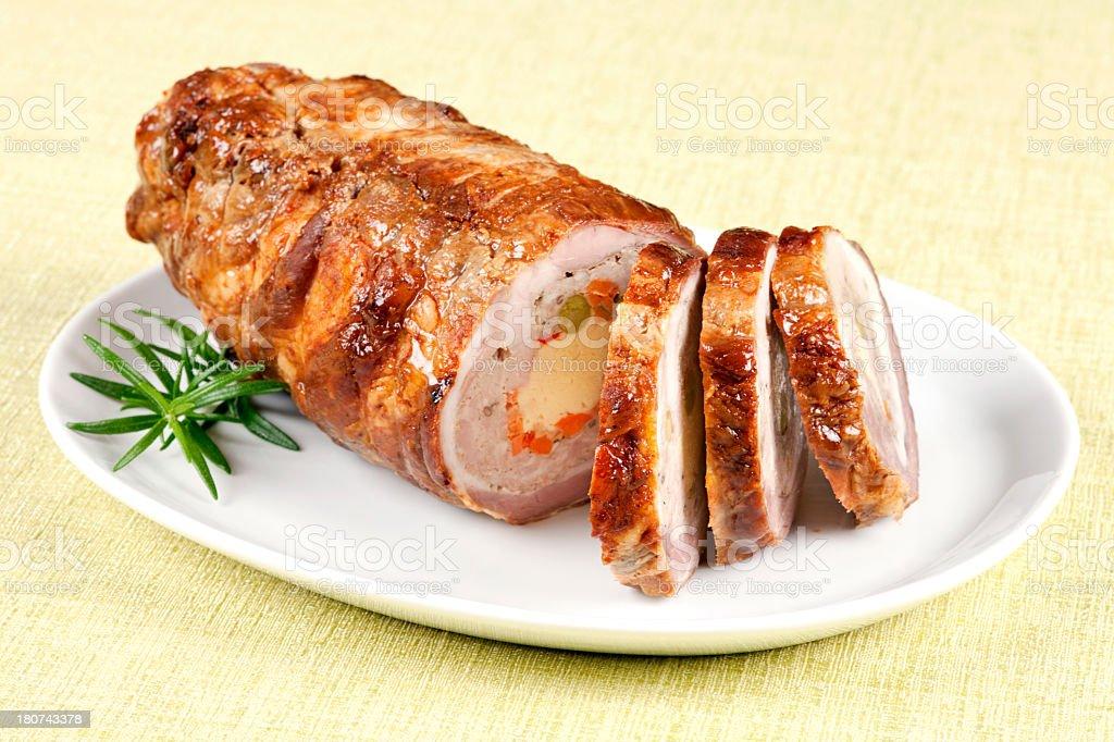 Pork roulade royalty-free stock photo