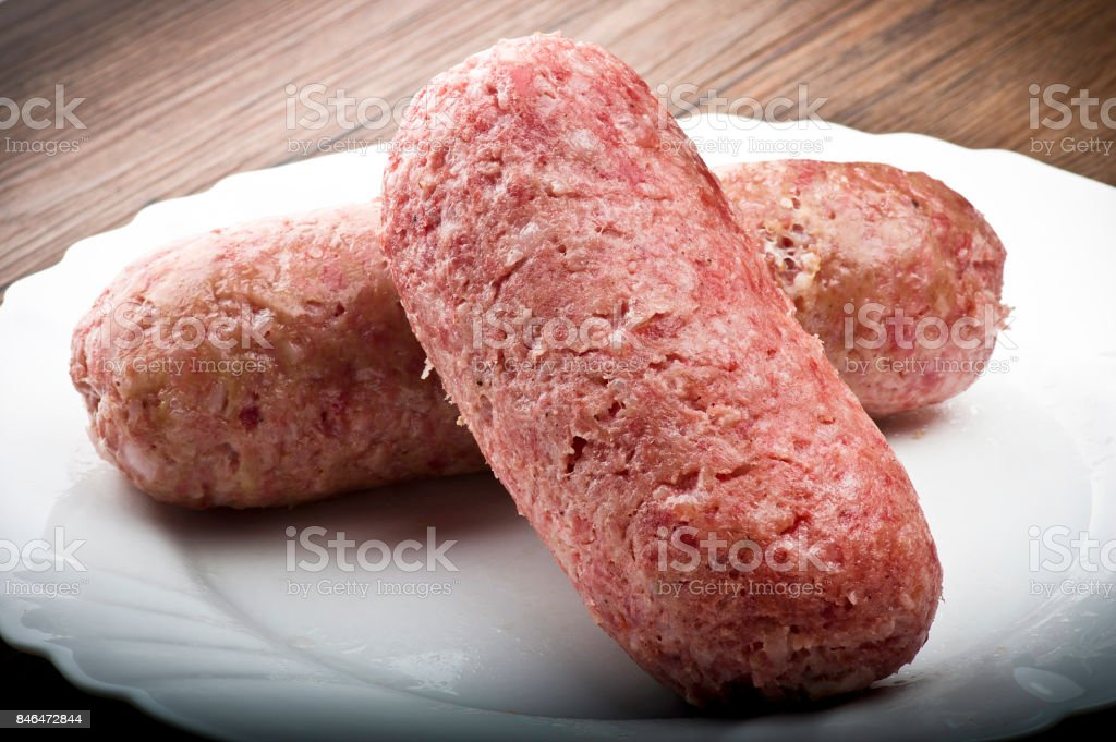 pork sausage (cotechino) stock photo