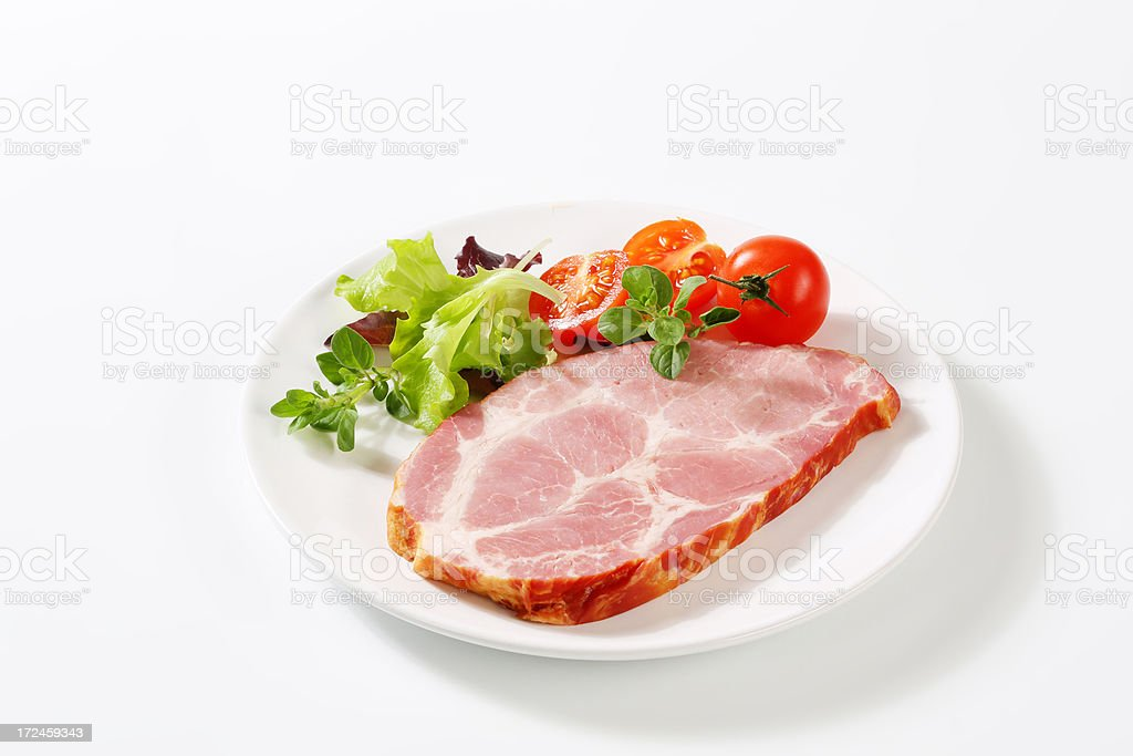 pork slice with vegetables royalty-free stock photo
