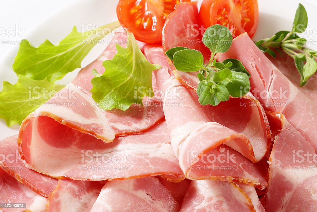 pork slices with vegetables royalty-free stock photo