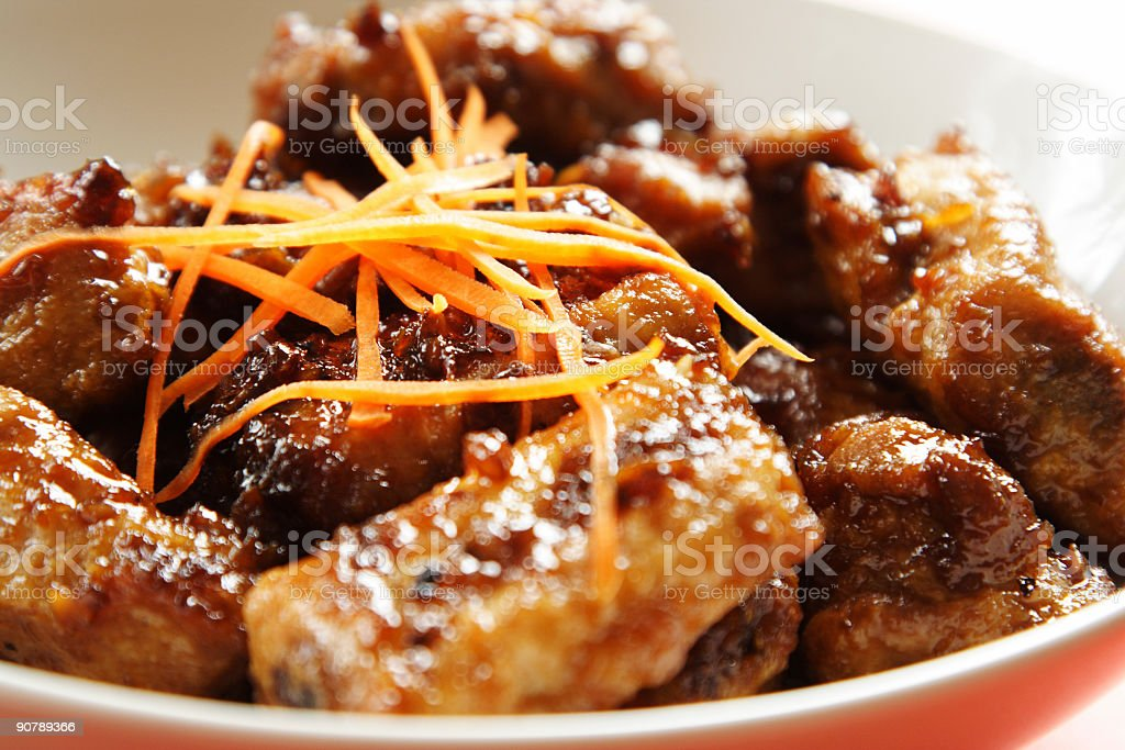 Pork spare ribs royalty-free stock photo