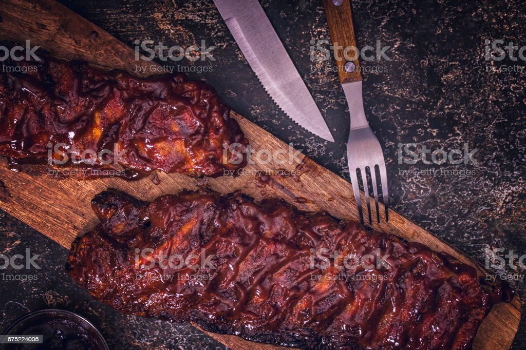 BBQ Pork Spareribs stock photo