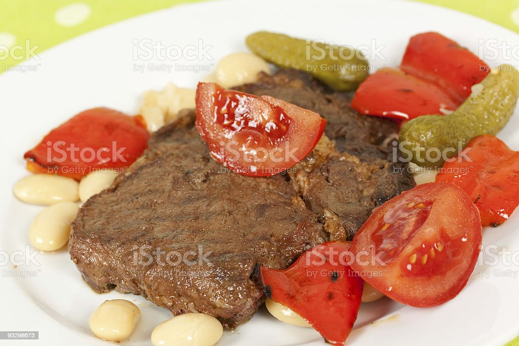pork steak-cutlet,roasted on the grill royalty-free stock photo