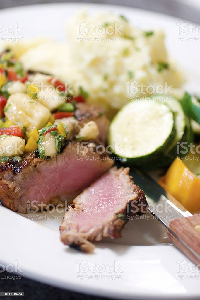 Pork Tenderloin Dinner stock photo
