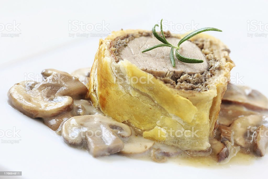 Pork wellington royalty-free stock photo