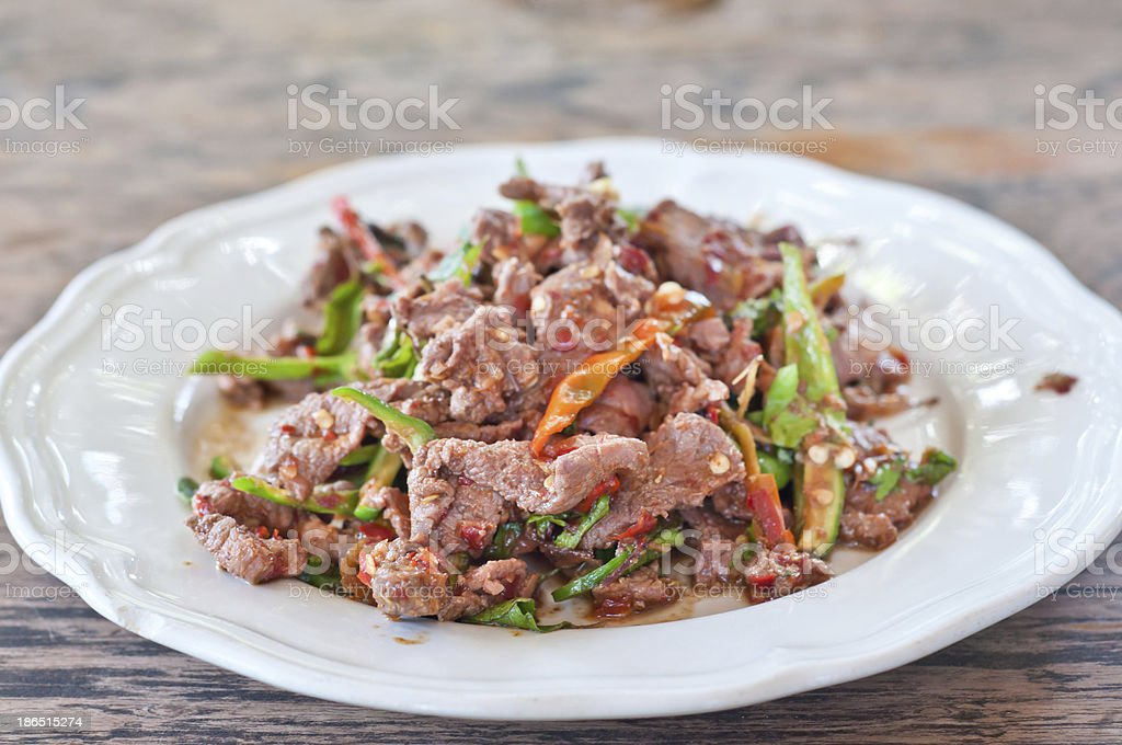 Pork with pepper. royalty-free stock photo