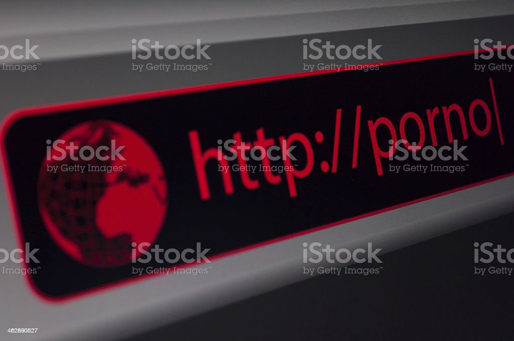 Porno Site stock photo