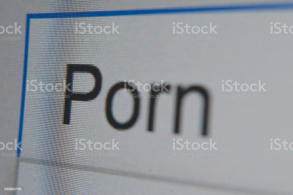 Porn - word search bar close up marco stock photo