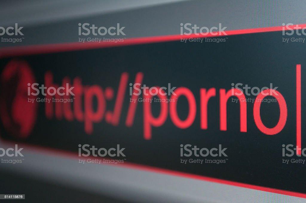 Porno Site stock photo