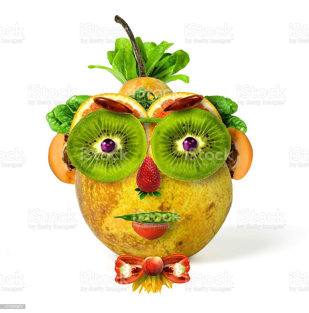 Fotografía de porompompero frutas y verduras cara más