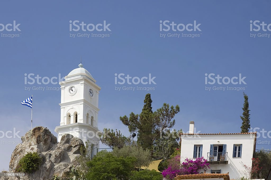 Poros Clock Tower stock photo