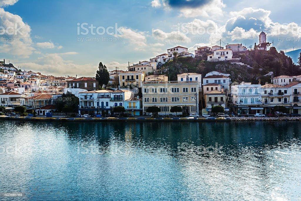Poros Island, Greece stock photo