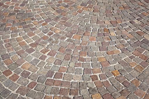 Photo Libre De Droit De Porphyre Sampietrini Sol Texture