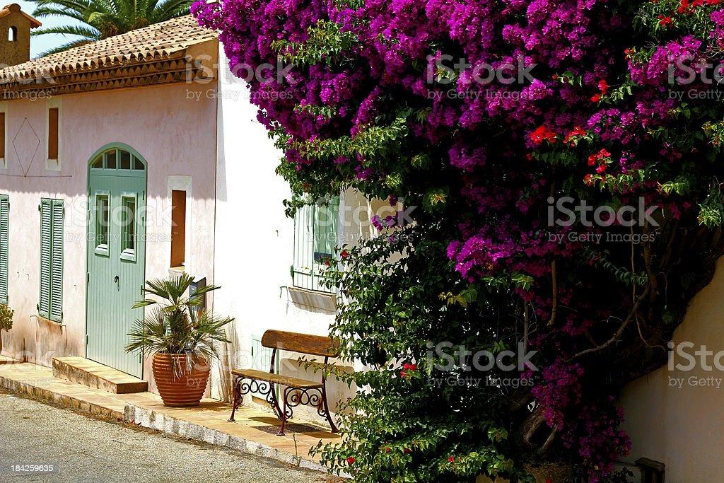 Porquerolles house stock photo