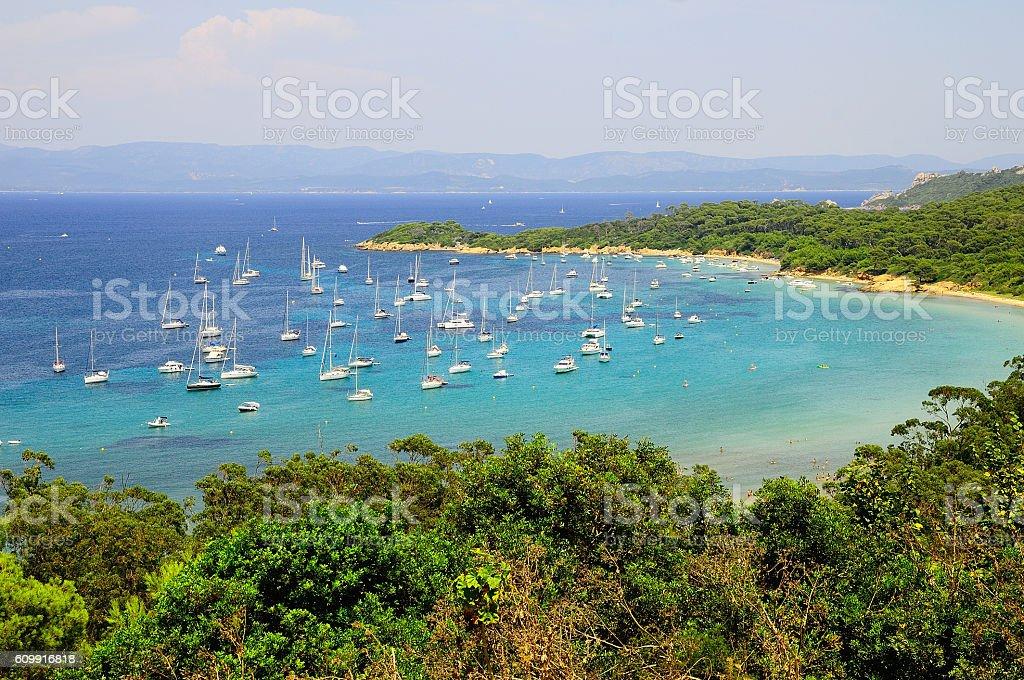 Porquerolles island stock photo